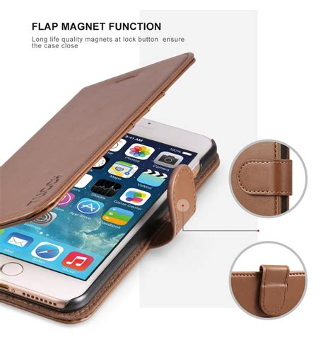 tucch iphone   leather wallet phone case wrist strap