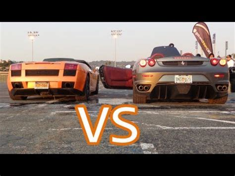 Lamborghini Gallardo Spyder Revs And Interior VS Ferrari