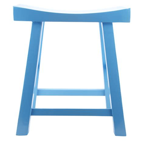 Blue Wooden Bar Stools by Low Wooden Stool Blue Stool Table Stool Bar