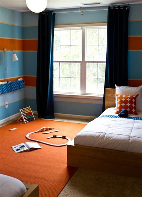 orange and blue bedroom colour scheme orange and blue