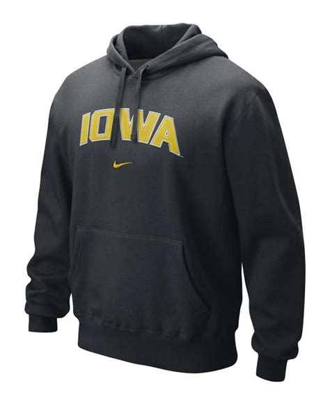 Hoodie Sweater Arch Linux Black Front Logo nike s iowa hawkeyes classic arch hoodie in black for