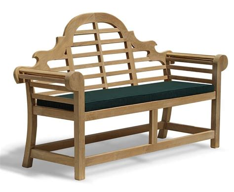 chair and bench cushions teak lutyens bench table and chairs set with cushions 1 65m