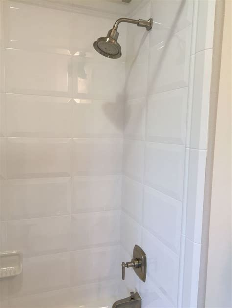 beveled subway tile shower 17 best images about model home ideas to try on