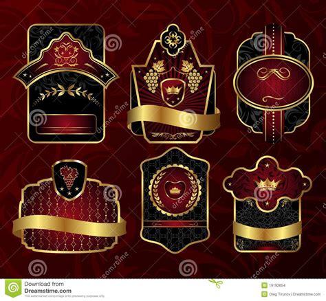Set Perhiasan Black Gold set black gold framed labels stock images image 19192654