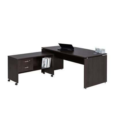 Front Desk Office Furniture Platinum Bow Front Desk With Mobile Extension Oxford Office Furniture