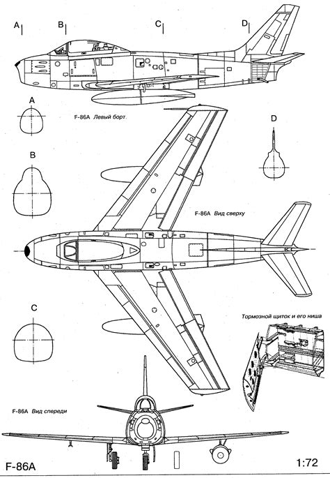 F Drawing Size by F 86 Sabre Blueprint Planes Aircraft