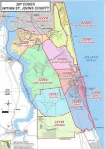 augustine florida map st augustine zip code map zip code map