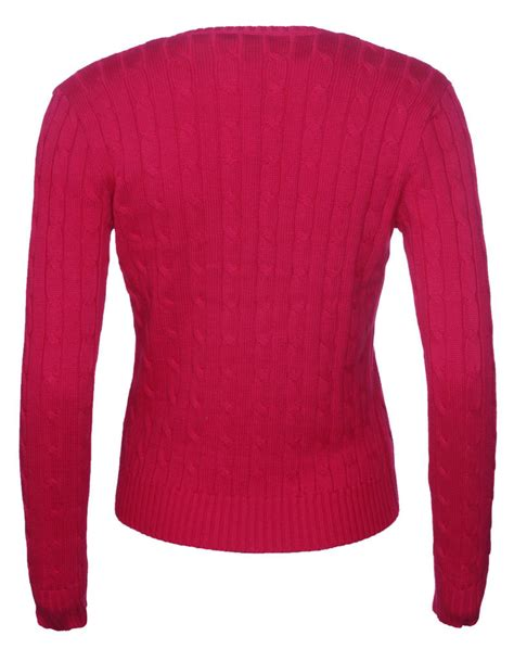 ralph womens cable knit jumper ralph s polo cable knit v neck jumper