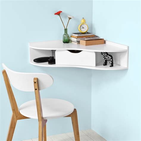 wall mounted corner desk sobuy wall mounted triangle corner table home office desk