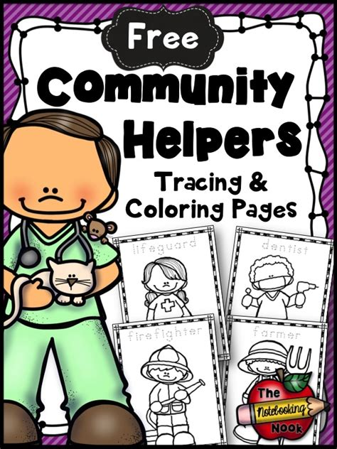 one helpers free community helpers tracing and coloring pages free