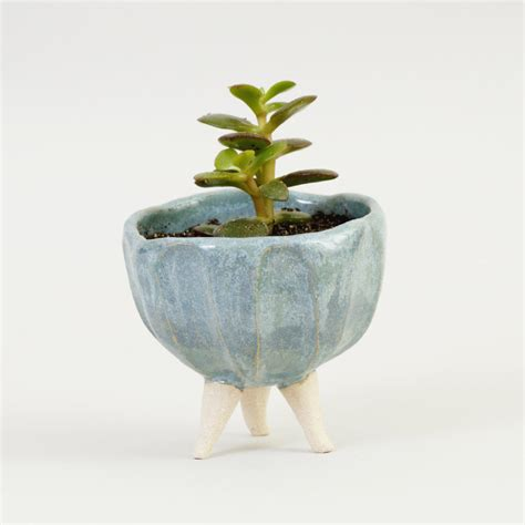 Ceramic Planter by Turquoise Blue Pottery Planter Ceramic Planter Ceramic Plant