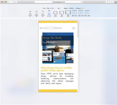 web layout mode responsive design mode in safari briley design group blog