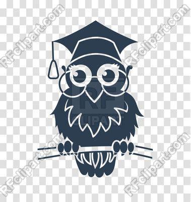 icon  smart owl  graduation hat vector image  plants  animals  rodnikovay