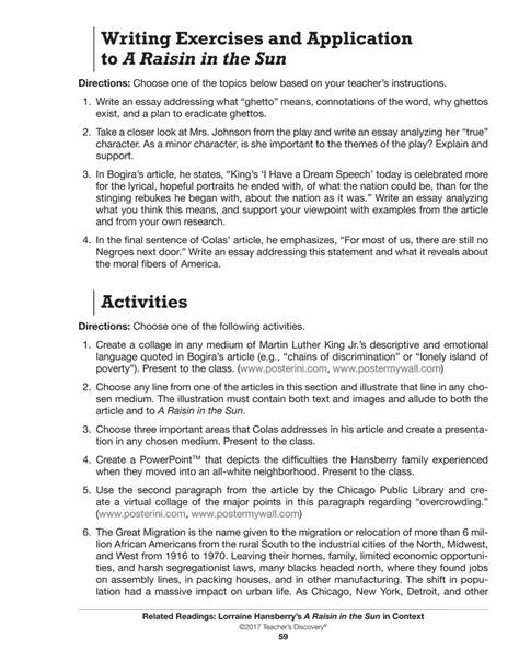 essay on the theme of a raisin in the sun a raisin in the sun essay thematic essay gcse history