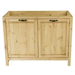 meuble sous 233 vier en pin massif 120 cm 2 portes grenier