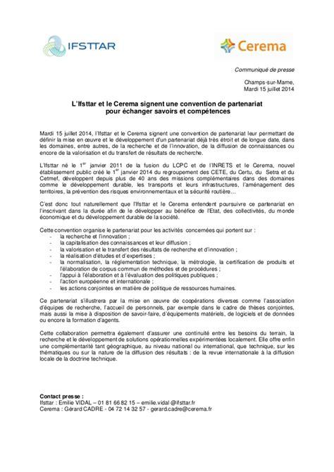 Lettre De Partenariat Entreprise Gratuit L Ifsttar Et Le Cerema Signent Une Convention De Partenariat Pour 233 Ch