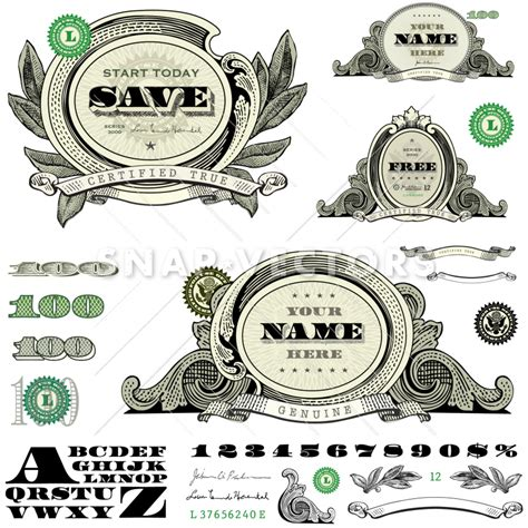home design free money vector money and frame template set snap vectors