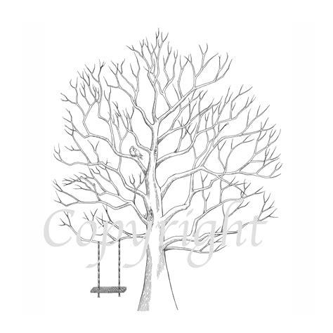 fingerprint tree with swing lovebirds swing the fingerprint tree 174