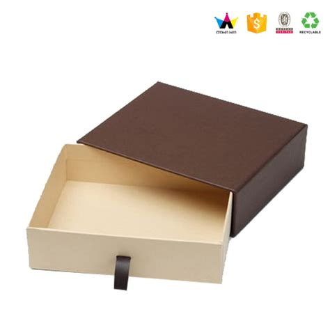 Buy Drawer Boxes by Luxury Custom Cardboard Slide Drawer Jewelry Packaging Box