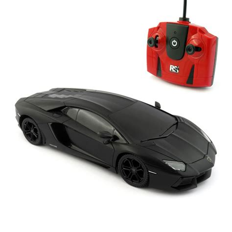 Remote Cars Lamborghini Aventador Lamborghini Aventador Matte Black Scale 1 24 Radio Remote