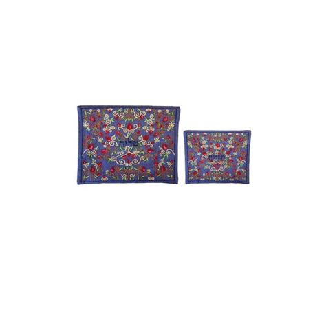 Bag A Bargain With This Flower Set by Yair Emanuel Embroidered Tallit And Tefillin Bag Set With