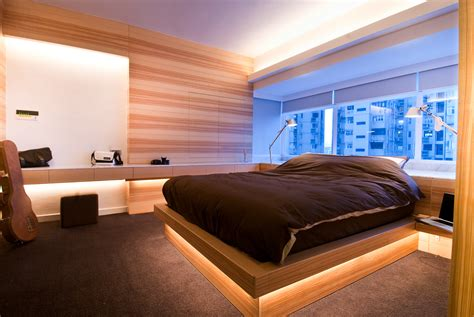 Bedroom Wood Design Modern Wood Bed Interior Design Ideas