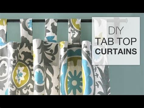 how to make tab top curtains diy tab top curtains youtube