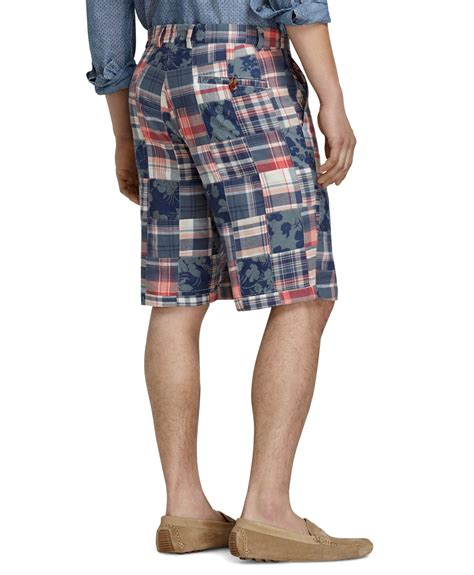 Patchwork Madras Shorts - brothers oxford lined madras patchwork shorts for
