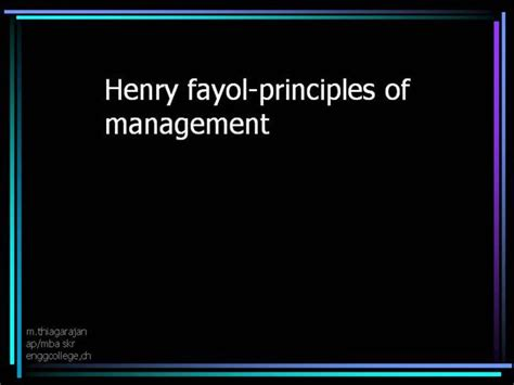 Mba Principles Of Management Book Pdf by 14 Henry Fayol Authorstream