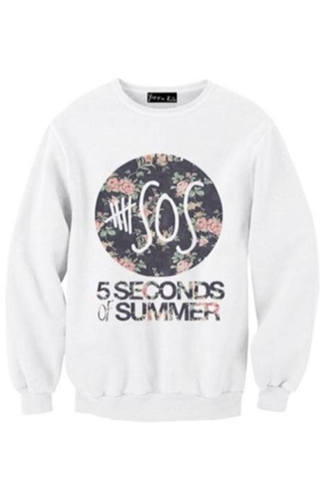 Jaket Sweater Hoodie 5sos 5 Seconds Of Summer 1 sweater 5 seconds of summer flowers shirt tank top top 5sos sweatshirt rock 5