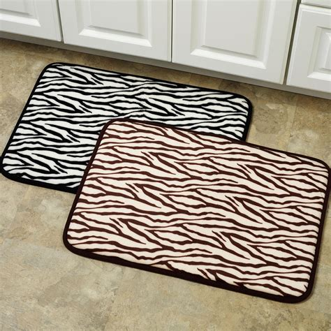 Zebra Bathroom Rug Animal Print Bathroom Home Design