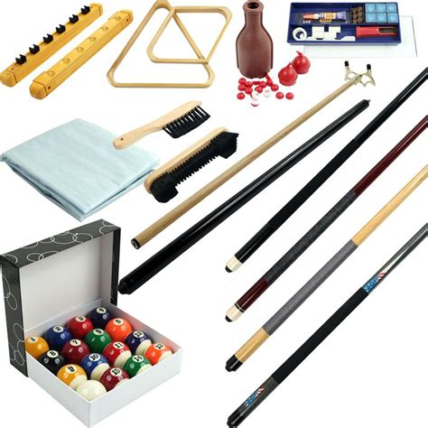Pool Table Sticks by Pool Cue Billiard Stick Accessories Kit 32 Premium