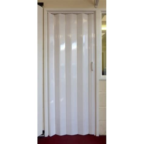 Folding Concertina Doors Interior Dynasty Pvc Concertina Folding Accordion Door White Ultra Thin 6mm
