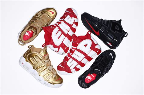 Nike Air Up Tempo X Supreme Blackout the awaited supreme x nike air more uptempo drops
