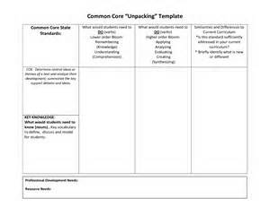 unpacking common standards template unpacking common standards template