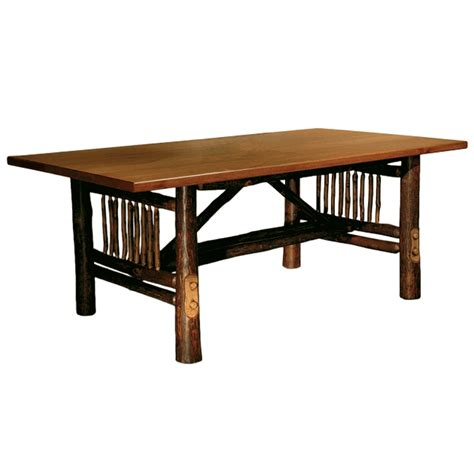 Hickory Dining Room Table by Black Forest Hickory Craft Dining Table