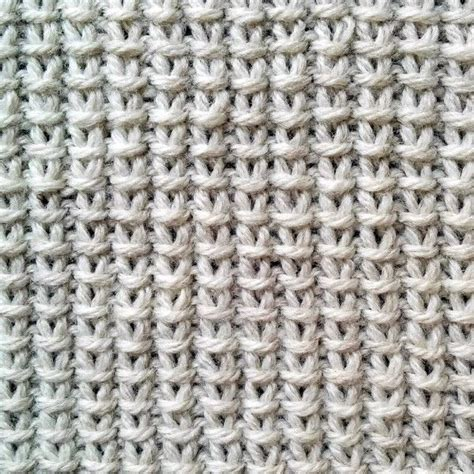 simple stitch knitting done in a of two stitches in a two row repeat