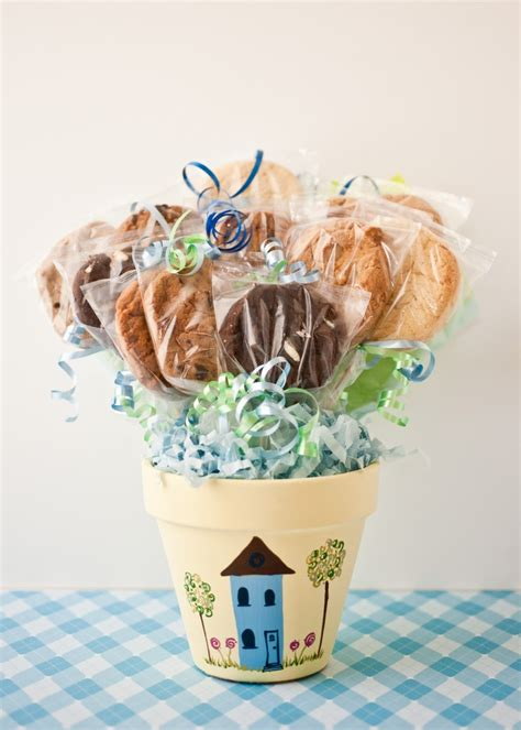 Sweet In Pot Bouquet home sweet home cookie bouquet in a painted flower