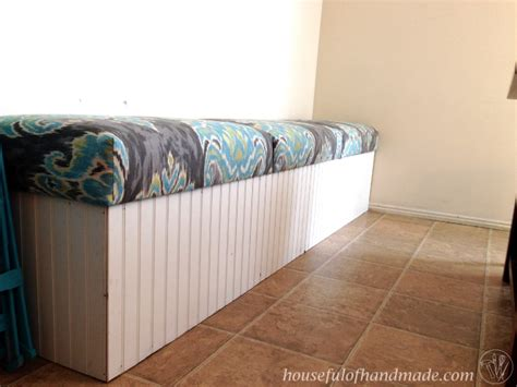 built in bench with storage dining room built in bench with storage a houseful of