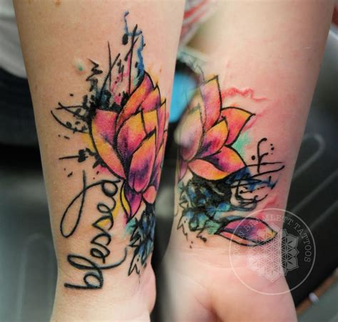watercolor tattoo words the 25 best watercolor lotus ideas on