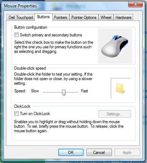 how do i change my dell touchpad settings and preferences