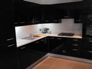 black gloss kitchen ideas black high gloss kitchen modern kitchen dublin by