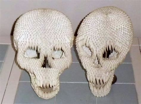 Skull Origami - skulls in 3d origami by dfoosdc deviantart on