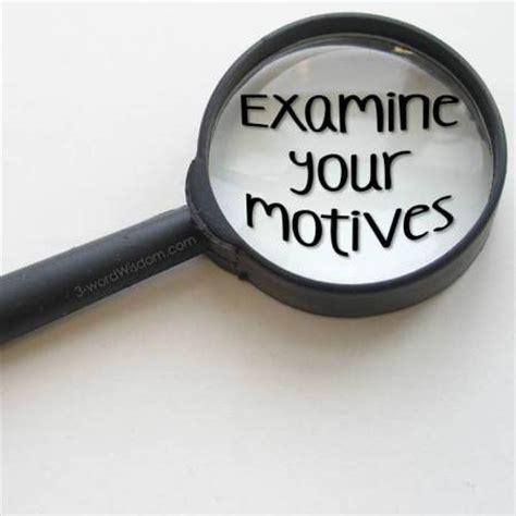 the motive motives pondering principles