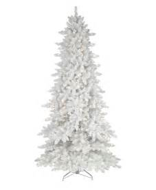 flocked white fir deluxe artificial christmas tree tree