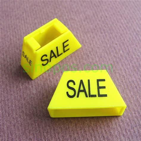 Sale Hanger plastic sale hanger marker 3d trapezoid cubes clip sale printed sizers apparel label sign slip