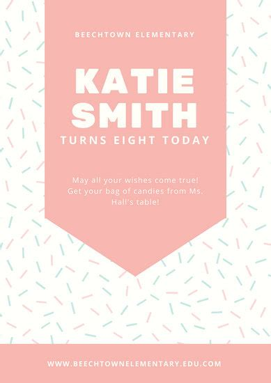 customize  birthday poster templates  canva