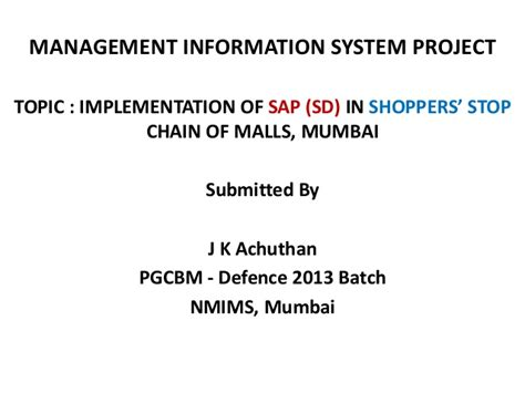 Mba Information System Management Project Topics by Mis Project Jka 21 Slideshare