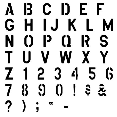 font for spray paint stencil us army spelling alphabet