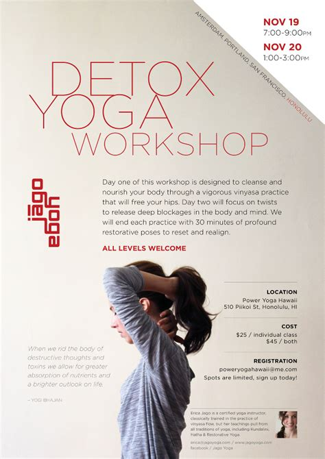 Detox Poster Idea by Workshop Poster Images